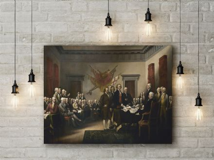 John Trumbull: Signing of the Declaration of Independence. Fine Art Canvas. (14)
